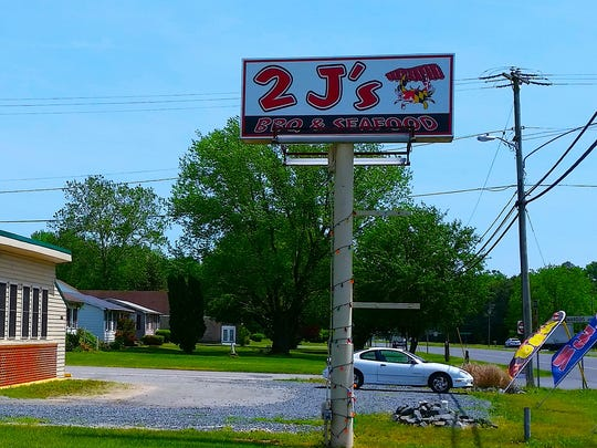 The exterior of 2 J's BBQ and Seafood.