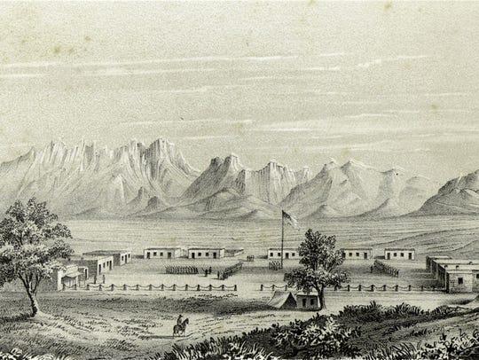 Fort Fillmore, south of Mesilla
