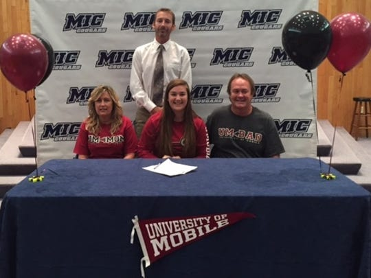 MIC's Autumn Rudolph signed with the University of Mobile