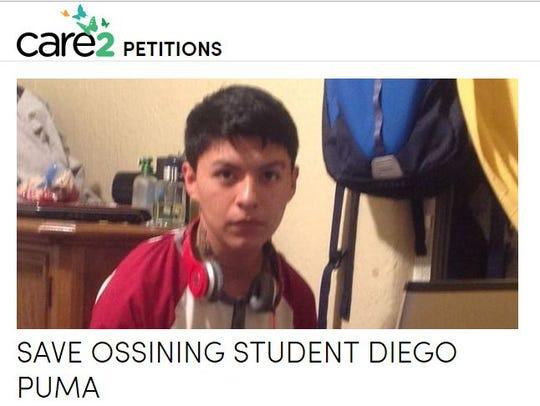 Diego Ismael Puma Macancela, an Ossining High School