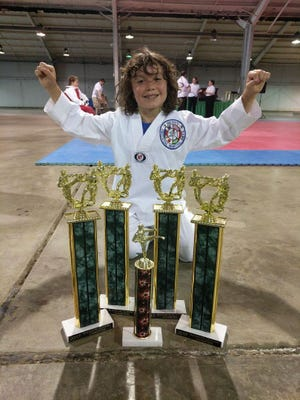 Canyon Craig from Hess Martial Arts Center competed at the Ohio State Fair, winning a sparring competition and receiving a spirit award.