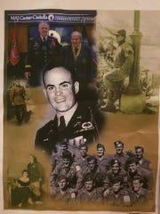 The memory board for Major Caesar Civitella, a recipient of the Bronze Star.