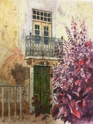 """In the fine art category at Small Stones Festival of the Arts in 2019, Bonnie Frederico of Grafton won the popular choice award for """"Portugal."""""""