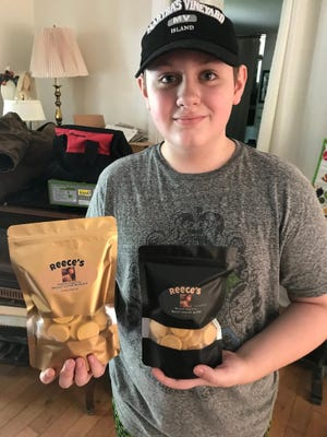 Eleven-year old Reece Devine continues to expand Reece's Homemade Doggie Treats, a company he started with him mom in 2016.