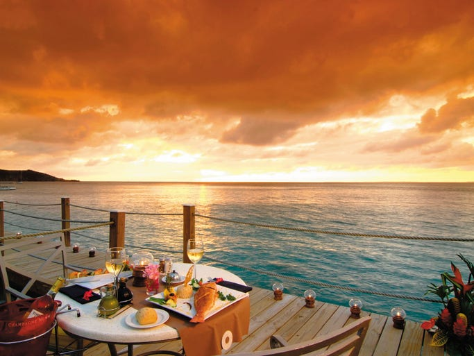 Sunset Cafe St Martin Irma