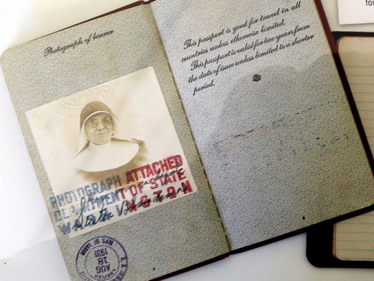 Sister Blandina Segale's passport used to travel to