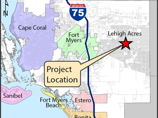 FDOT map showing location of proposed Abel Canal shared use pathway.