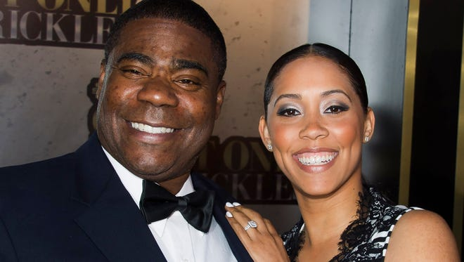 Tracy Morgan and Megan Wollover attend One Night Only: An All-Star Tribute to Don Rickles on May 6, 2014 in New York.