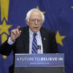Democratic presidential candidate, Sen. Bernie Sanders, I-Vt, speaks during a campaign rally in Fort Wayne, Ind.  on May 2.