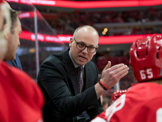 Coach Jeff Blashill's role as a teacher has worked in terms of developing young players.