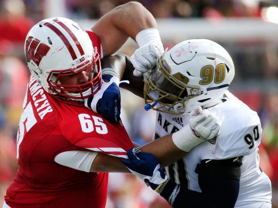 Ryan Ramczyk (left) has become one of the NFL's best offensive linemen in just three years.