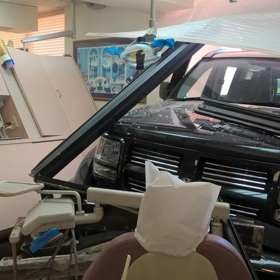 A sport utility vehicle plowed into a medical office