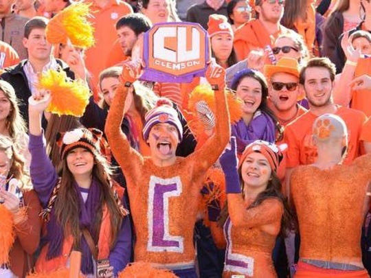 Clemson fans can cheer on the Tigers at a viewing party at Bon Secours Wellness Arena on Monday.