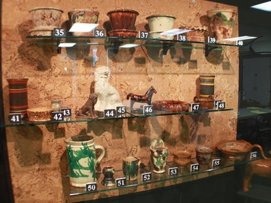 John Bell pottery at the Renfrew Museum.