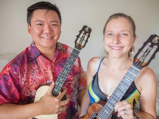 Ukulele Virtuosi Craig Chee and Sarah Maisel perform