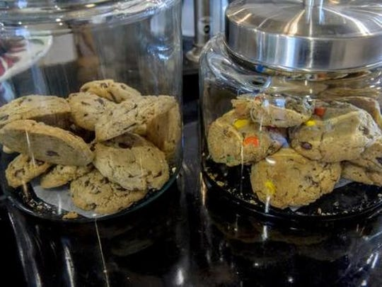 A selection of cookies is usually available at Mishmash Eats & Sweets in Indianola.