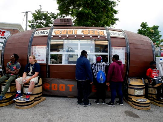 The root beer barrel is a great place to grab a refreshment at Summerfest.