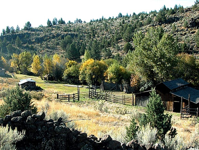 The Riddle Brothers Ranch is a National Historic Site on Steens Mountain.