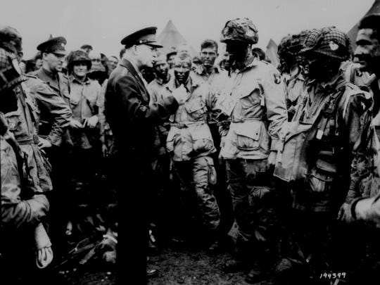 Gen. Dwight D. Eisenhower gives the order of the day. June 6, 1944. National Archives Identifier: 531217