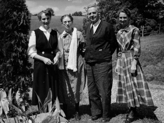 Mary (Walter) Thomas, pictured at the farm where she