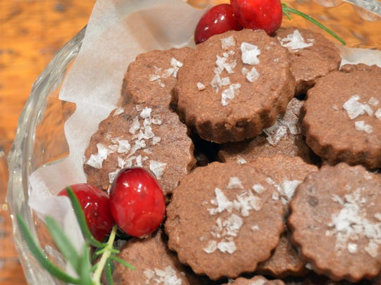Chocolate Cayenne Cocktail Cookies are sweet, salty and spicy at the same time.
