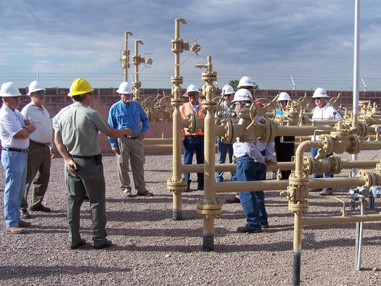 Las Cruces Utilities commissioners tour the Martinez