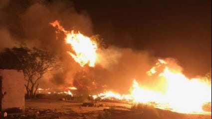A brush fire charred 30 acres near Avenue 66 and Highway 111 in Mecca Thursday. Cal Fire fighters contained it and there were no injuries or damage to buildings.