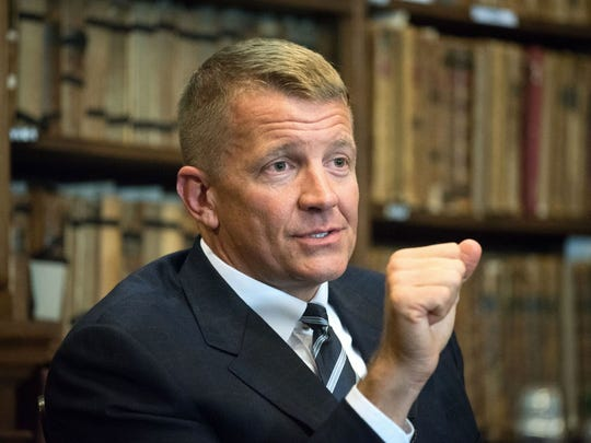 Erik Prince is a former Navy SEAL officer and founder