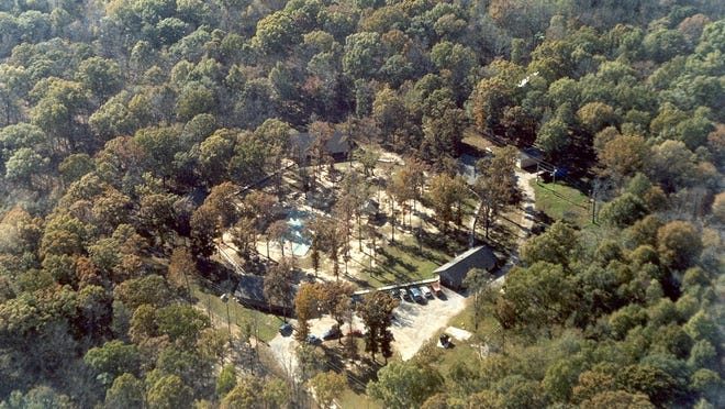 Aerial view of the Arkansas Juvenile Assessment and Treatment Center near Alexander.
