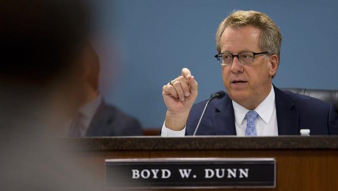 Arizona Corporation Commission member Boyd Dunn