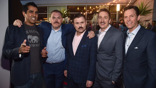 """The stars of """"Super Troopers 2"""" and members of the Broken Lizard comedy team."""