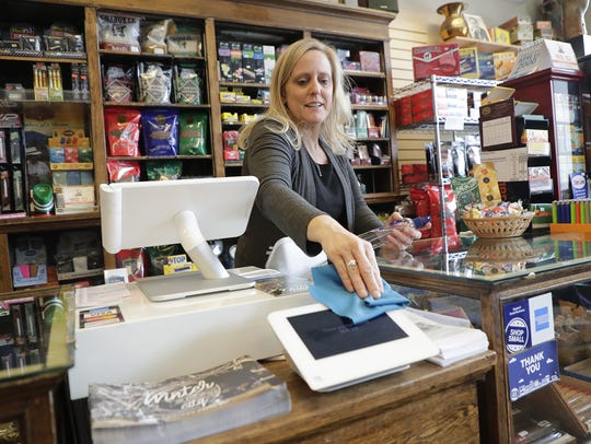 Lisa Mitchell, a manager at Bosse's on Cherry Street