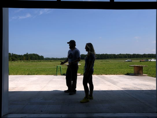 Jeremy and Jill Wolf, co-owners of Blue Barn Cidery,