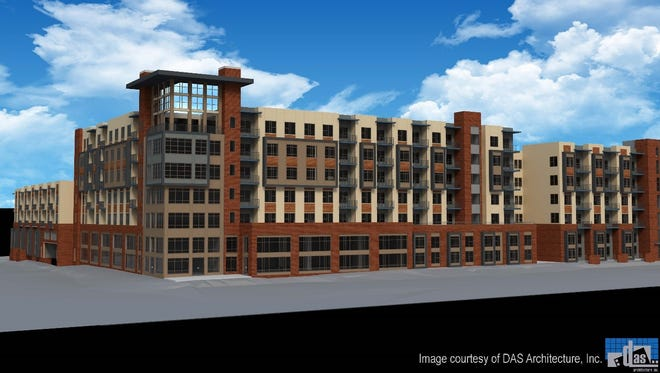A rendering of the Gateway Germantown apartments planned at 1703 Rosa L. Parks Blvd. near Garfield Avenue.