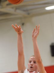 Westmoreland Middle School forward Kirby Bickerton