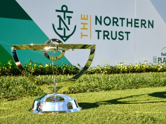 OLD WESTBURY, NY - AUGUST 23: The new tournament trophy is seen during practice for THE NORTHERN TRUST at Glen Oaks Club on August 23, 2017, in Old Westbury, New York. (Photo by Chris Condon/PGA TOUR)
