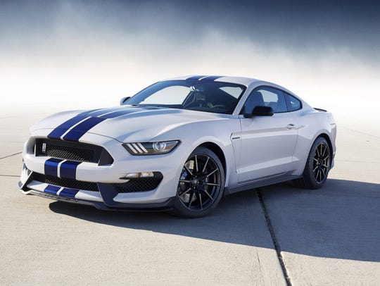 Ford's 2015 Shelby GT350 Mustang in Oxford White with