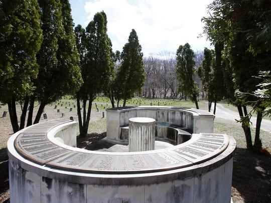 A circular memorial at the Marlboro Psychiatric Hospital