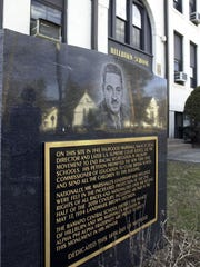 A monument commemorating Thurgood Marshall and a 1943