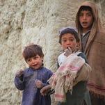 Afghan children in Kabul, Afghanistan.