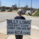 GOP health care overhaul vote draws protesters to Rep. Billy Long's Springfield office