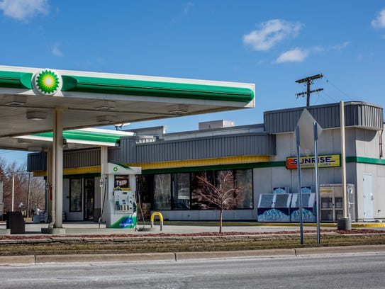 The Sunrise Convenience Store and BP gas station in