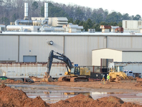 Construction at the Electrolux plant in Anderson  February