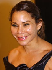 "Actress Daphne Rubin-Vega arrives at the post-performance cast party for ""The Public Sings: a 50th Anniversary Celebration"", an event showcasing the Public Theater's musical theater history, in New York City in 2006."