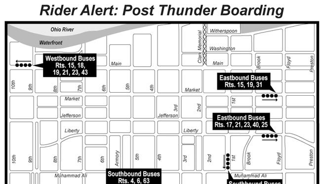 Post Thunder Over Louisville TARC map