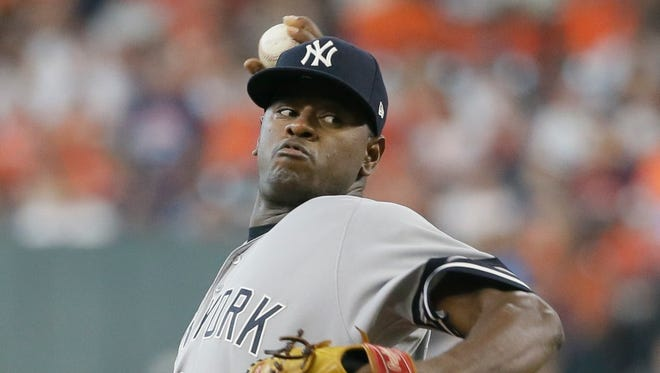 New York Yankees starting pitcher Luis Severino