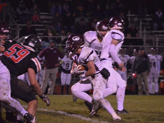 Genoa's Noah Edwards rushed for 2,233 yards and 36 touchdowns as a senior.