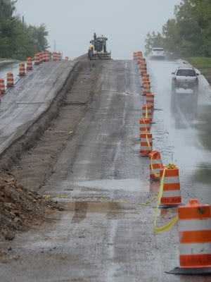 Work continues Sept. 28 on reconstruction of Novi Road north of 12 Mile.