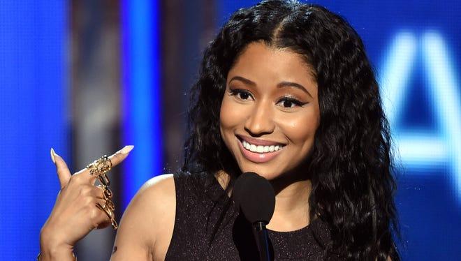Nicki Minaj accepts best female hip-hop artist during the BET Awards on June 29, 2014, in Los Angeles.