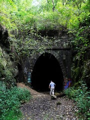 The Claudius Crozet Blue Ridge Tunnel was built in